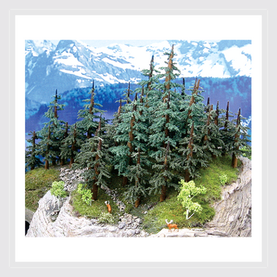 "1494035693591 - Grand Central Gems T37 Medium Lodgepole Pine Trees, 6-8"" (5) - Rj's Trains"