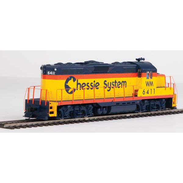Walthers Mainline, 910-10417, HO Scale, EMD GP9 Phase II, Chessie WM, #6411, DCC Ready