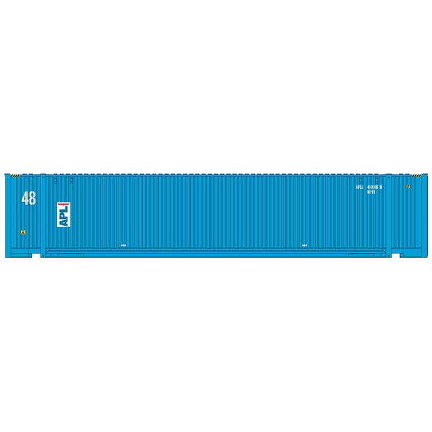 Intermountain 30555-02, HO 48' JINDO Container, APL Vertical Logo - APLU, #498559/498814