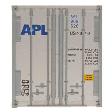 Intermountain 30401-05, HO 48' Smooth Side Container, Set of 2, American Presidents Line- APLU 484922/484980