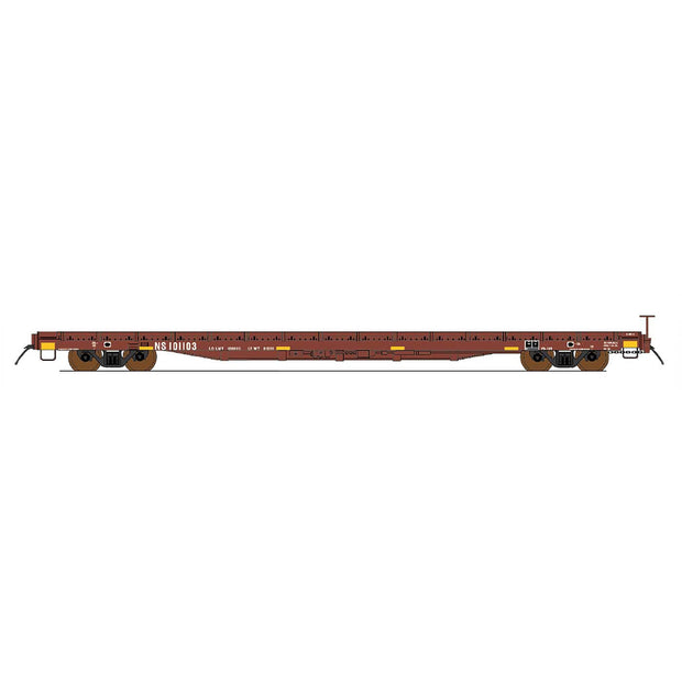 Intermountain, HO Scale, 46419-06, 60' Wood Deck Flat Car, Norfolk Southern (Ex-Southern), #101121
