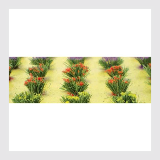 JTT Scenery Products HO 95581 Detachable Flower Bushes, 3/8