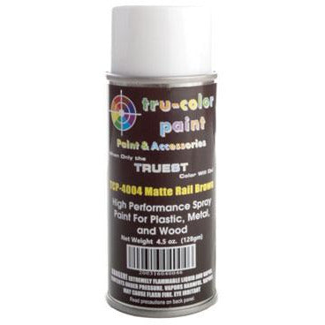 Tru-Color Paint, TCP-4004, Spray Paint, Matte Rail Brown, 4.5 oz