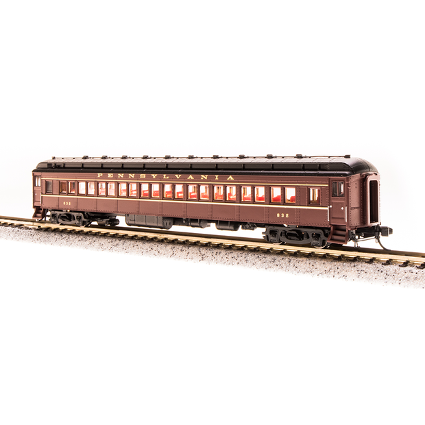 Broadway Limited, N Scale, 3766, PRR P70 without AC, Tuscan Red w/ Gold Lettering & Stripes, 4-Car Set