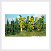 "Heki Trees and Shrubs 1434 Pine and Hardwood Forest 4-3/4"" to 6"" (13)"