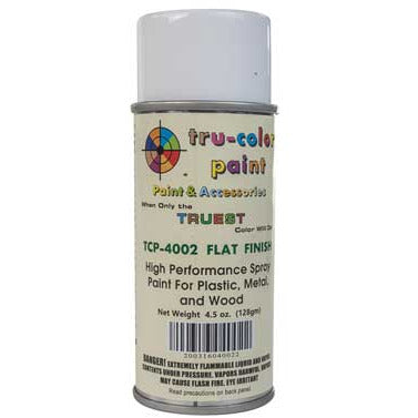 Tru-Color Paint, TCP-4002, Spray Paint, Flat Finish, 4.5 oz