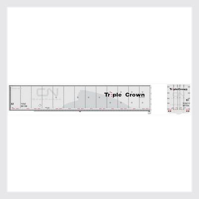 4167286980631 - Bowser Ho 42113 53' Duraplate Roadrailer, Triple Crown (Canadian National) #361105 - Rj's Trains