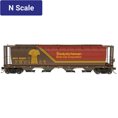 Intermountain, 65122, N Scale, Cylindrical Covered Hopper, Saskatchewan