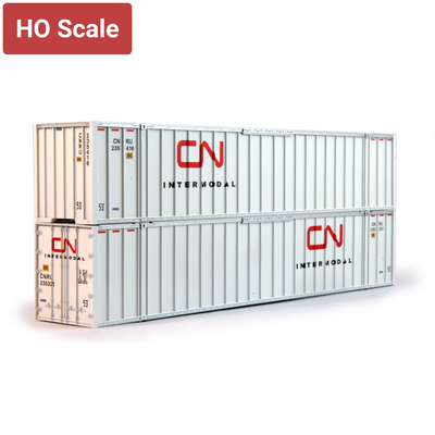 Kato HO 30-9027 53' Intermodal Containers, CN (2-Pack)