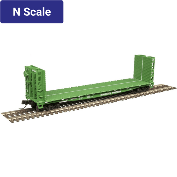 Atlas, 50004804, N Scale, 48' GSI Bulkhead Flat Car, Burlington Northern, #616018