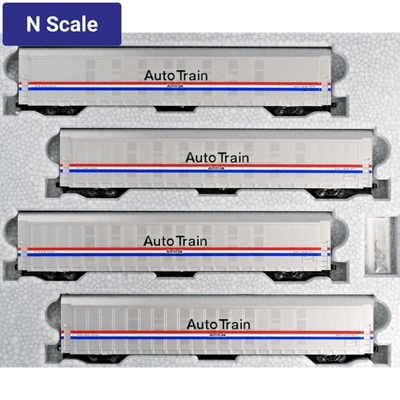 Kato, N Scale, 1065508, Autorack Set #2, Amtrak (Phase III) AutoTrain, (4-Car Set)