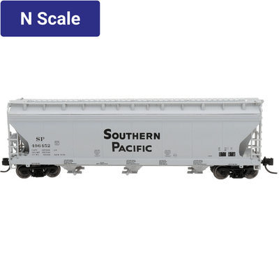 Intermountain, 67003, N Scale, 3-Bay Covered Hopper, Southern Pacific