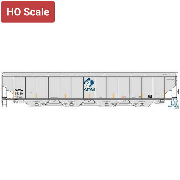 Walthers Proto, HO Scale, 920-105821, 67' Trinity 6351 4-Bay Covered Hopper, AMD, #63335
