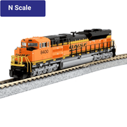 Kato, N Scale, 1768523-DCC, EMD SD70ACe Nose Headlight Version, Burlington Northern Santa Fe, #8400, (Pre-Installed DCC)