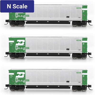 InterMountain - Value Line, 6403001-A01, N Scale, AeroFlo Coal Gondolas, Burlington Northern, (6 Pack)