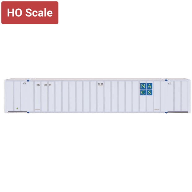 Intermountain 30601-04, HO Scale, 53' Hyundai Container, Early Roof, NACS - NCDU, 234525/234623