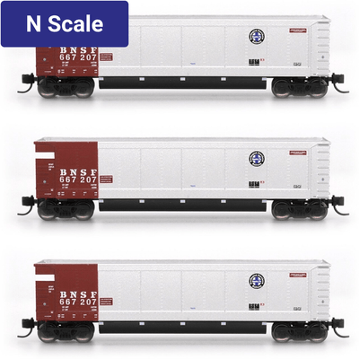 InterMountain - Value Line, 6403003-A02, N Scale, AeroFlo Coal Gondolas, BNSF - Brown, (6 Pack)