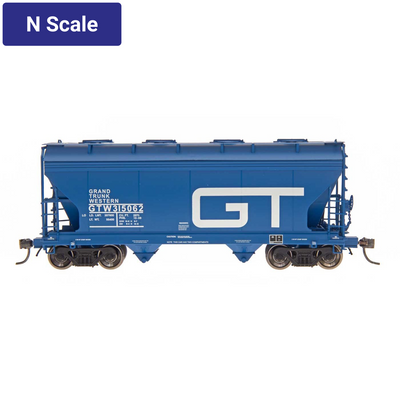 Intermountain, 66532, N Scale, ACF 2-Bay Covered Hopper, Grand Trunk