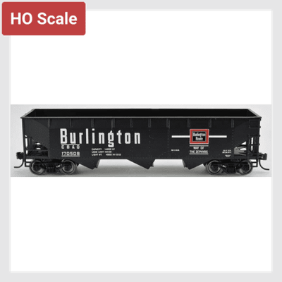 4319375720506 - Bowser 42287, 70 Ton Offset Hopper, Burlington #170508 - Rj's Trains