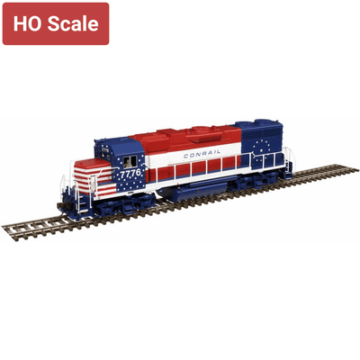 Atlas, 10003241, HO Scale, GP38, Conrail (Bicentennial), #7776, DCC & Sound Equipped