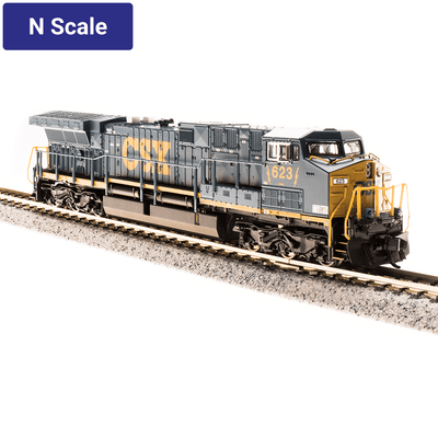 "Broadway Limited,  N Scale, 3746, GE AC6000, CSX, YN3 Paint Scheme (""Dark Future""), #648 (DCC & Sound)"