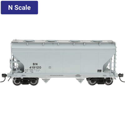 Intermountain, 66541, N Scale, ACF 2-Bay Covered Hopper, BN