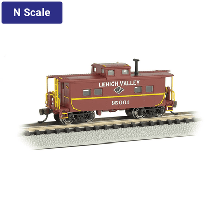 Bachmann, N Scale, 16858, Northeast Steel Caboose, Lehigh Valley, #95004