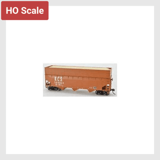 1511414595607 - Bowser Ho 60224 70-Ton Offset Wood Chip Smooth Sided Hopper Kit, Kansas City Southern #500623 - Rj's Trains