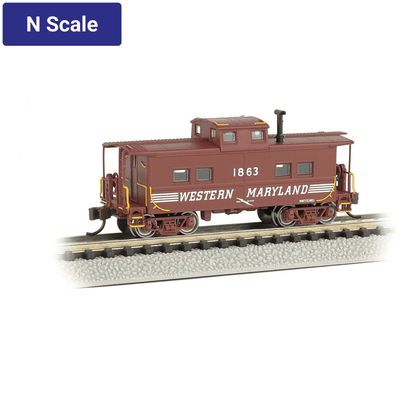 Bachmann, N Scale, 16859, Northeast Steel Caboose, Western Maryland, #1863