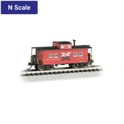 Bachmann, N Scale, 16864, Northeast Steel Caboose, New Haven, #C-543