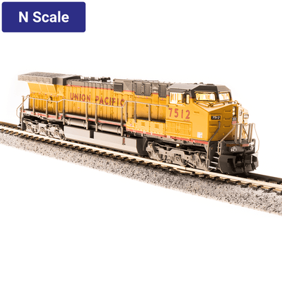 Broadway Limited,  N Scale, 3752, GE AC6000, Union Pacific, Yellow & Gray Scheme, #7545 (DCC & Sound)