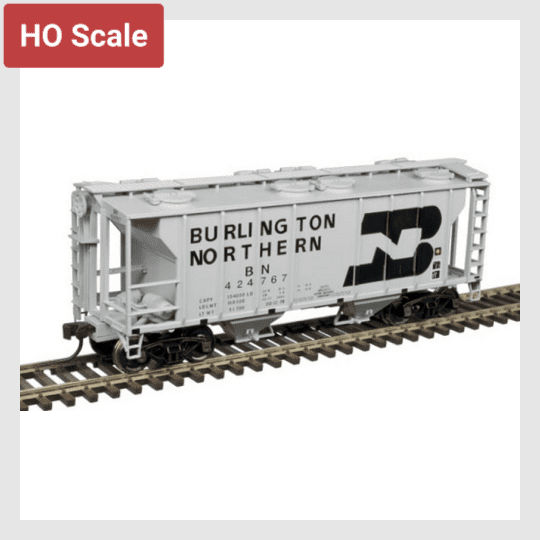 4321964654650 - Atlas Trainman Ho 20005054 Ps-2 Covered Hopper, Burlington Northern #424754 - Rj's Trains