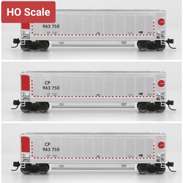InterMountain - Value Line, HO Scale, 4402003-A01, Trinity Aluminator Coal Gondolas, Canadian Pacific - CP, 6 Pack