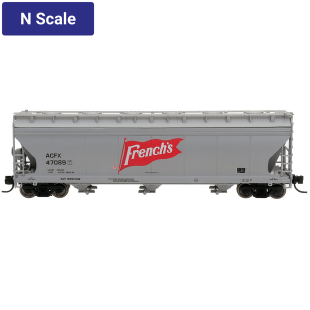 Intermountain, 67085, N Scale, 3-Bay Covered Hopper, French's