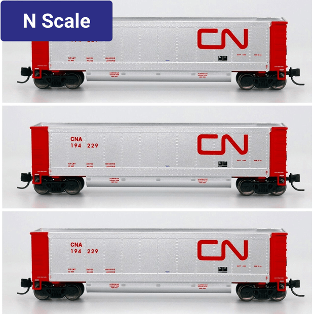 InterMountain - Value Line, 6403004-A01, N Scale, AeroFlo Coal Gondolas, Canadian National (6 Pack)