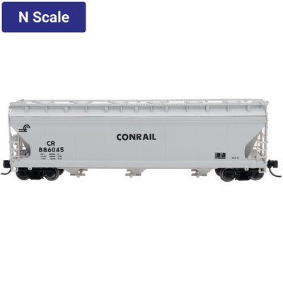 Intermountain, 67076, N Scale, 3-Bay Covered Hopper, Conrail