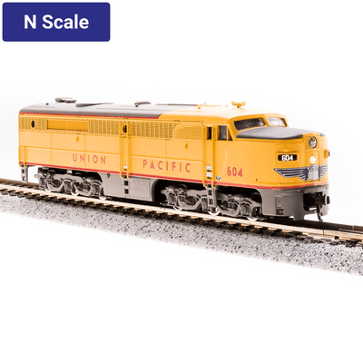 Broadway Limited,  N Scale, 3856, ALco PA, Union Pacific, Yellow & Gray Scheme, #606 (DCC & Sound)