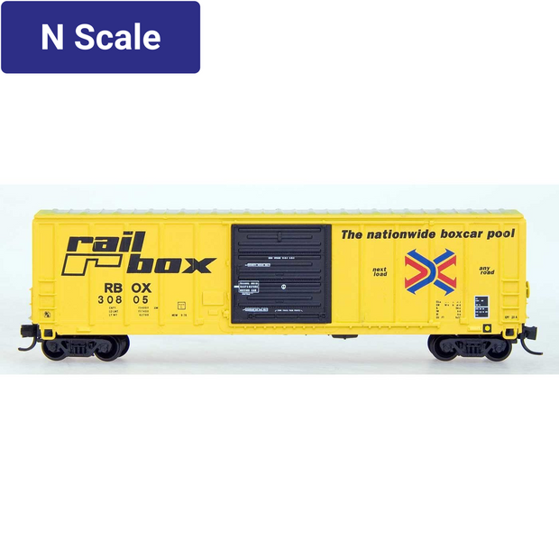Intermountain, N Scale, 67501, PS 5277 Cubic Foot SD Exterior Post Boxcar,  Railbox - Original