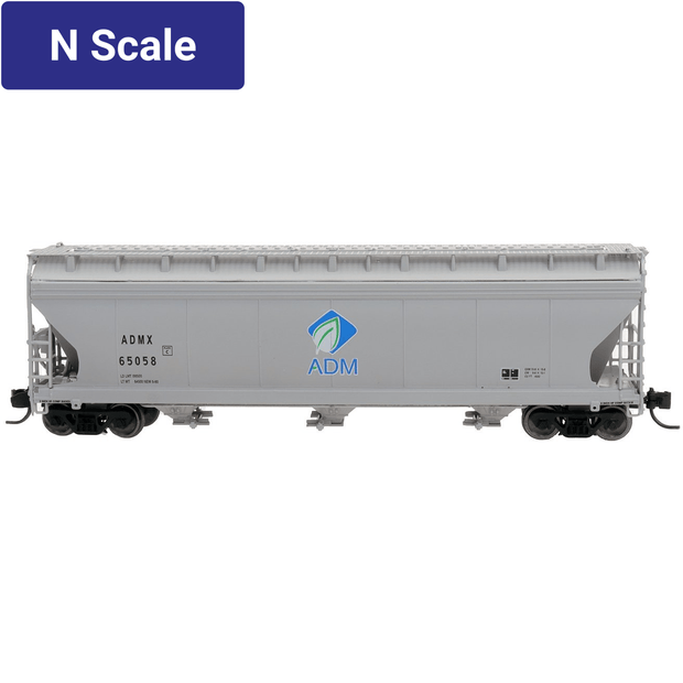Intermountain, 67080, N Scale, 3-Bay Covered Hopper, ADM New Log