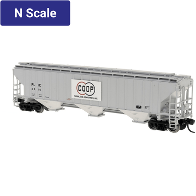 Intermountain, 653112, N Scale, 4750 Cu Ft. 3-Bay Covered Hopper, Farmland Co-op - FILX