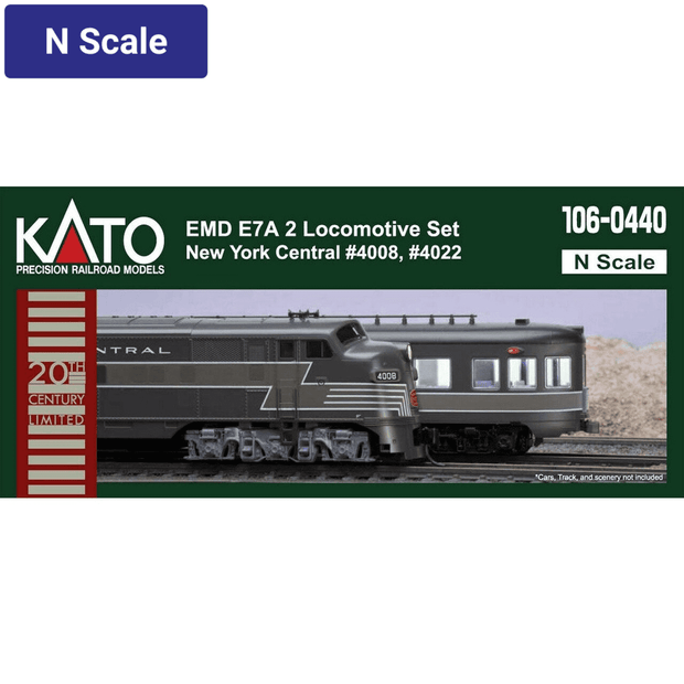 Kato, N Scale, 106-0440, E7 A/A Diesel Set, New York Central, #4008/4022