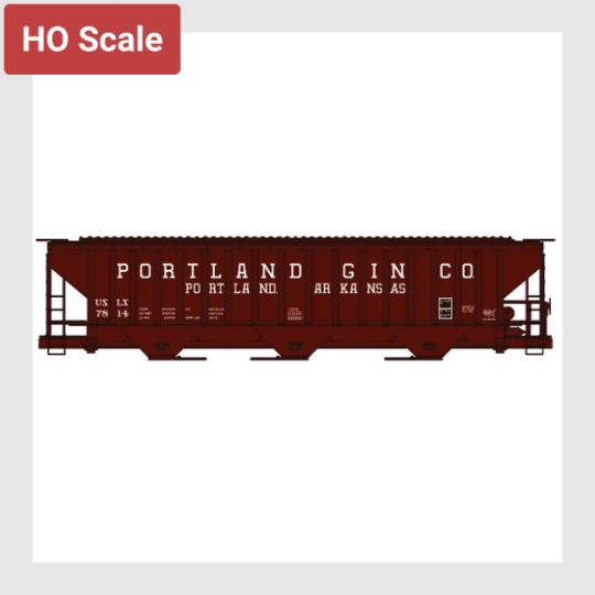 1491006586903 - Accurail 81022 Pullman-Standard 4750 Covered Grain Hopper Kit, Portland Gin #7814 - Rj's Trains