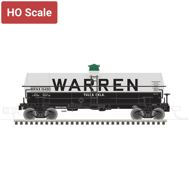 Atlas, HO Scale, 20005489, 11000 Gallon Tank Car, Warren (WRNX), #10490