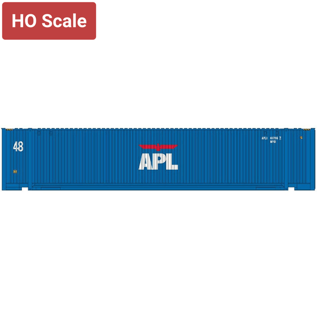Intermountain 30554-01, HO 48' JINDO Container, APL Small Logo - APLU, #4871967/4888872