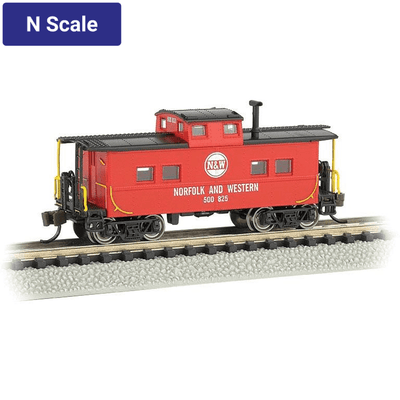 Bachmann, N Scale, 16865, Northeast Steel Caboose, Norfolk and Western, #500825