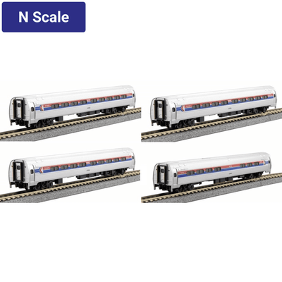 Kato, N Scale, 1068011, Amtrak/Amfleet (Phase I), 4-Car Set