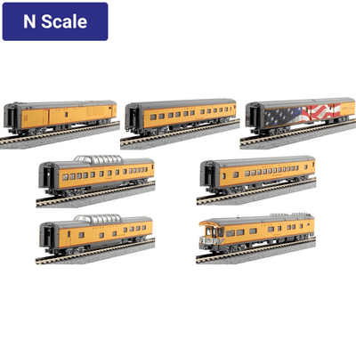 Kato, N Scale, 106-086, Excursion Train 7-Car Set, Union Pacific