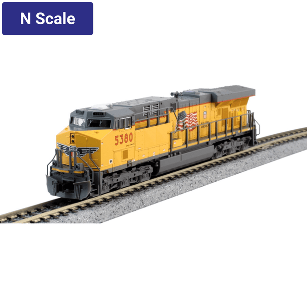 Kato, N Scale, 176-8932-DCC, GE ES44AC, Union Pacific, #5380, DCC Installed