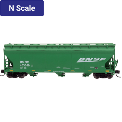 Intermountain, 67082, N Scale, 3-Bay Covered Hopper, BNSF