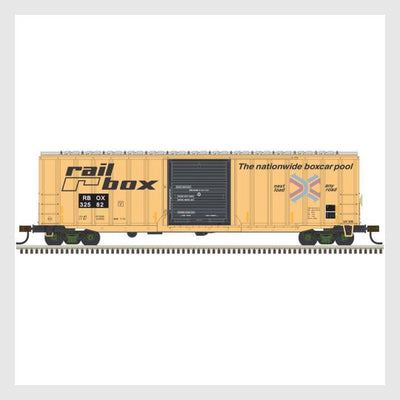 "3944308932631 - Atlas Trainman Ho 20005132 Acf 50' 6"" Box Car, Railbox (Faded/Patched) #32582 - Rj's Trains"